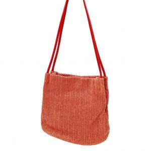 Sac Bandoulière tressé couleur rouge, petit format, accessoire de mode et maroquinerie femme à Lyon