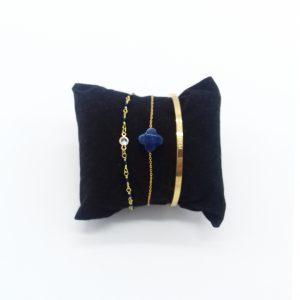 pack de bracelets dorés et bleu marine bijoux fantaisie et accessoires de mode femme à Lyon
