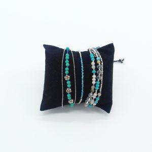 pack de bracelets nuances de bleu et turquoise bijoux fantaisie et accessoires de mode femme à Lyon