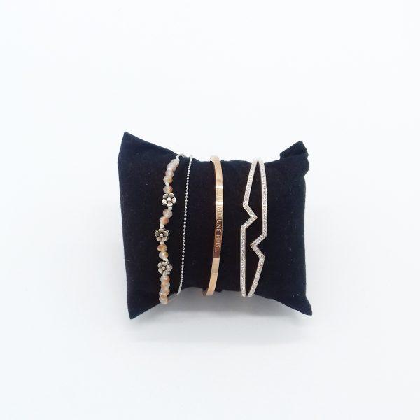 pack de bracelets rose doré bijoux fantaisie et accessoires de mode femme à Lyon