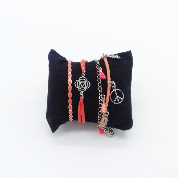 pack de bracelets nuances d'orange bijoux fantaisie et accessoires de mode femme à Lyon