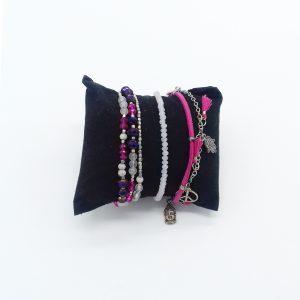 pack de bracelets nuances de rose bijoux fantaisie et accessoires de mode femme à Lyon