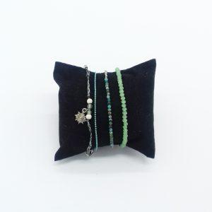 pack de bracelets nuances de vert bijoux fantaisie et accessoires de mode femme à Lyon