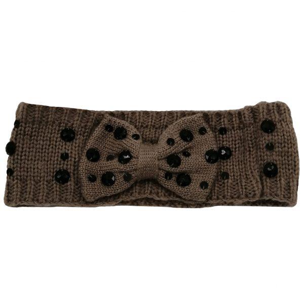 headband camel avec strass noirs fin et toucher doux, accessoires de mode pour cheveux femme