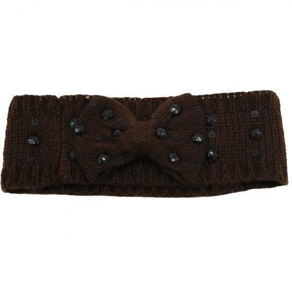 headband marron strass noirs, toucher doux et fin, accessoires de mode pour cheveux femme