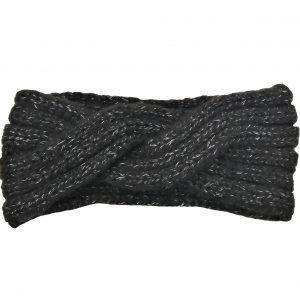 headband noir et tacheté gris en forme de vague, accessoires de mode pour cheveux femme