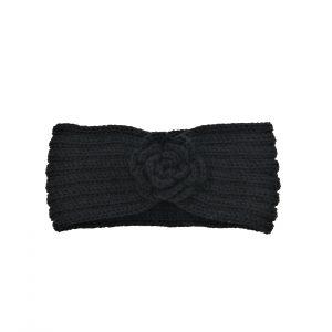 Headband noir motif forme de rose, accessoires de mode pour cheveux femme