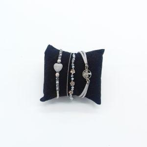pack de bracelets nuances de gris bijoux fantaisie et accessoires de mode femme à Lyon