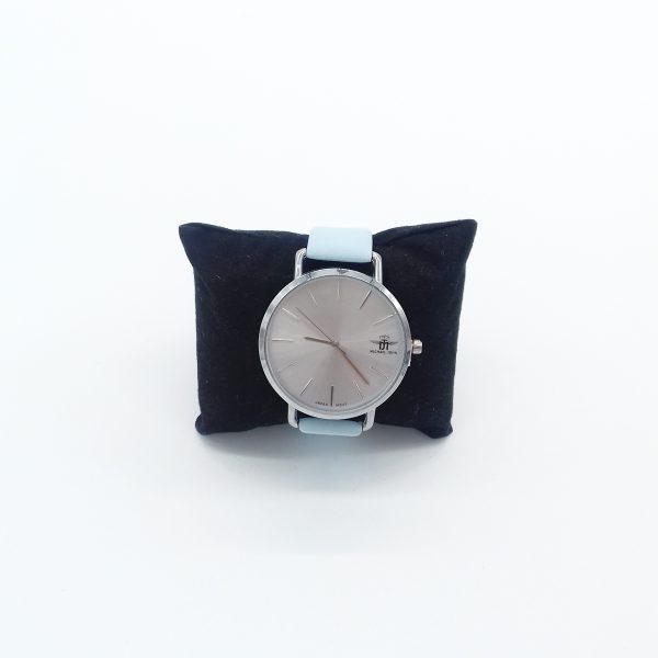montre grand cadran doré bracelet bleu ciel bijoux fantaisie et accessoires de mode femme à Lyon
