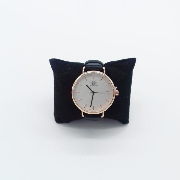 montre grand cadran doré bracelet noir bijoux fantaisie et accessoires de mode femme à Lyon