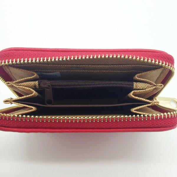 zoom sur ce porte-monnaie rouge et doré maroquinerie accessoires de mode et montres femme à Lyon