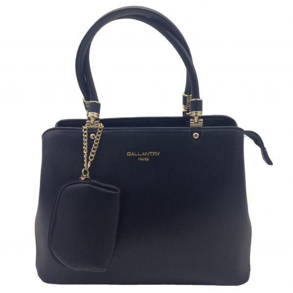 sac à main noir avec son porte-monnaie maroquinerie et accessoires de mode femme à Lyon