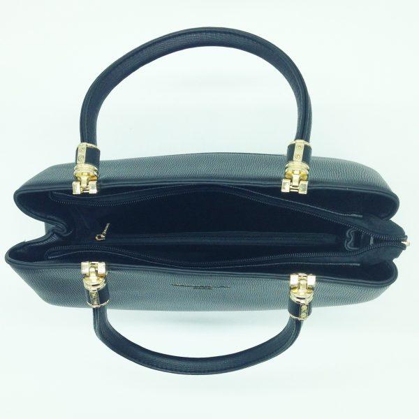 zoom sur ce sac à main noir avec son porte-monnaie maroquinerie et accessoires de mode femme à Lyon