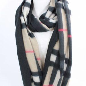 écharpe en laine, viscose et coton couleur beige, noire et rose, accessoires de mode femme à Lyon