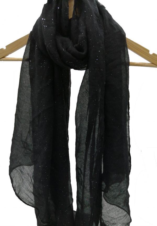 foulard noir pailleté, accessoires de mode femmes à Lyon