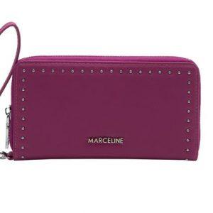 portefeuille couleur fuchsia, accessoires de mode à Lyon pour femme, bijoux, montres, écharpes...