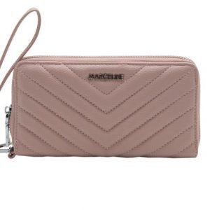 portefeuille rose matelassé, accessoires de mode femme à Lyon