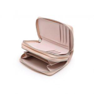 zoom intérieur petit portefeuille rose, accessoire de mode pour femmes à Lyon, bijoux, montres, écharpes...